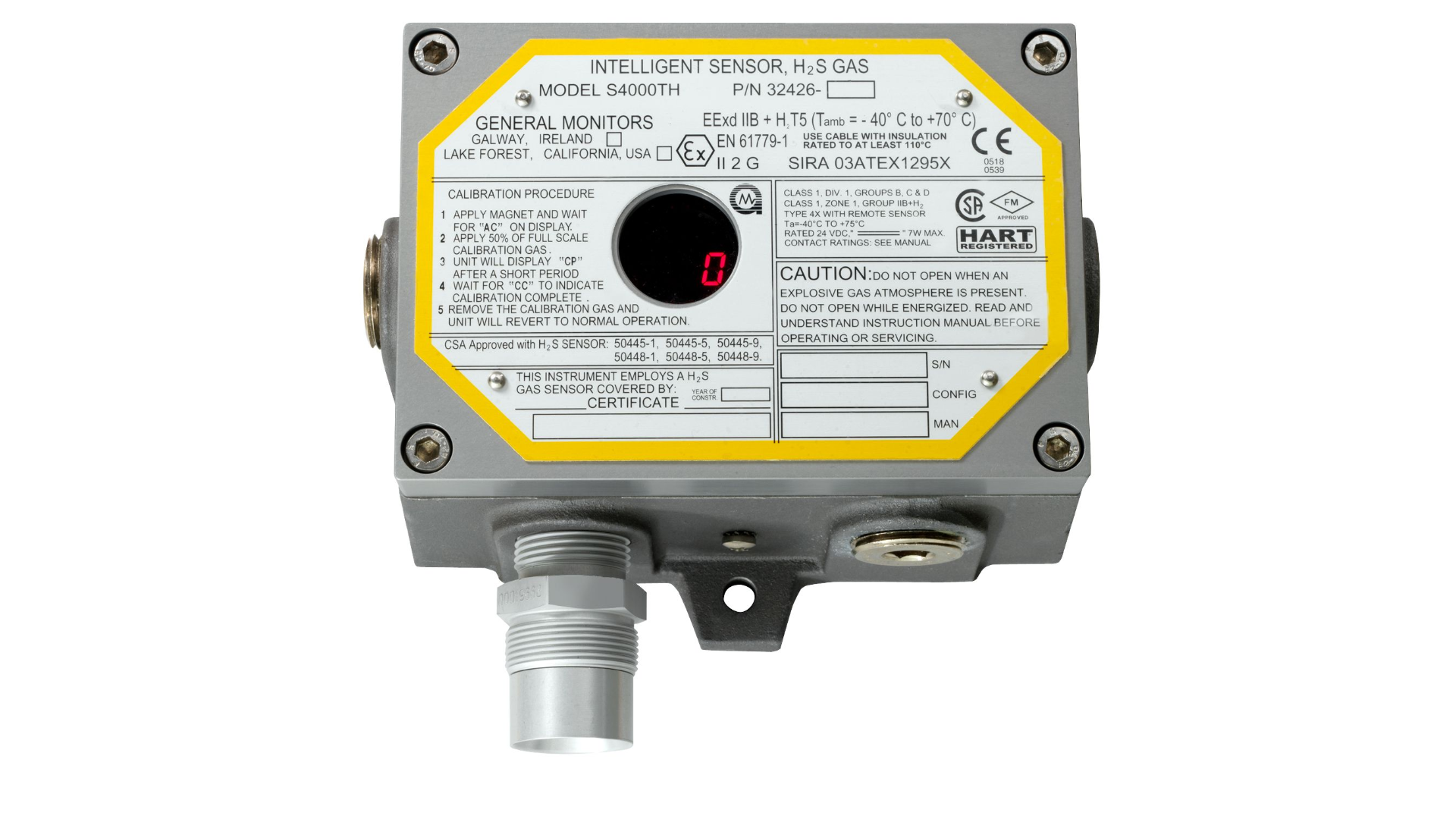 Original Image: General Monitors S4000TH H2S Gas Detector
